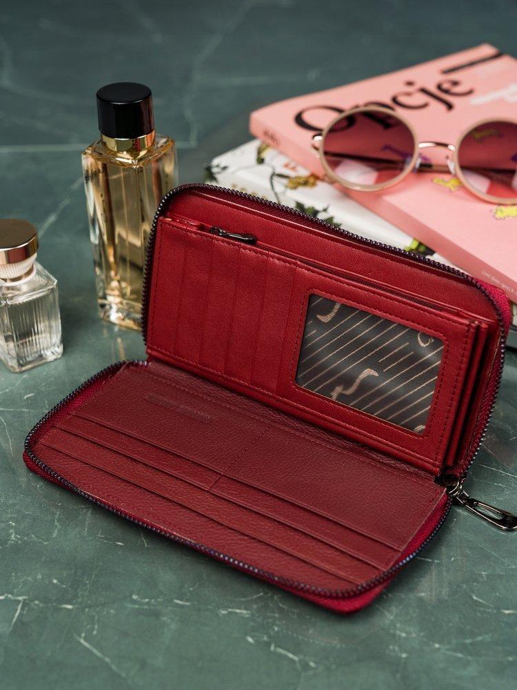 Exkluzivní dámská Cavaldi peněženka Eva, červená