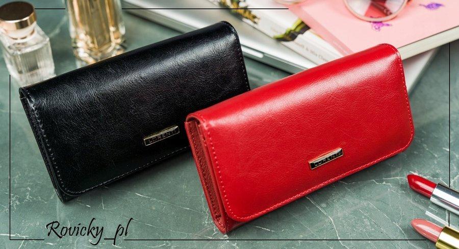 Kožená klasická dámská peněženka Joana, černá