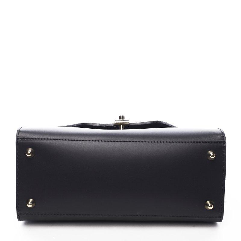 Módní kožená dámská kabelka Lisa černá