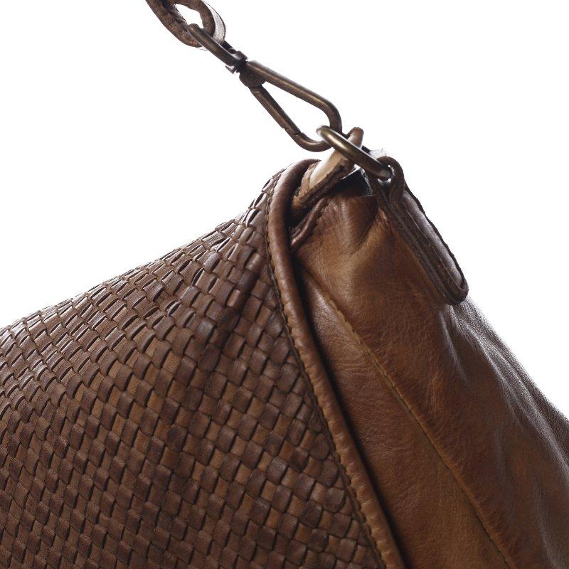 Moderní kožená dámská kabelka Cybil hnědá