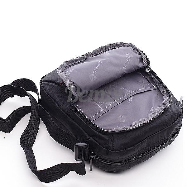 Pánská černá taška přes rameno Diviley Joel
