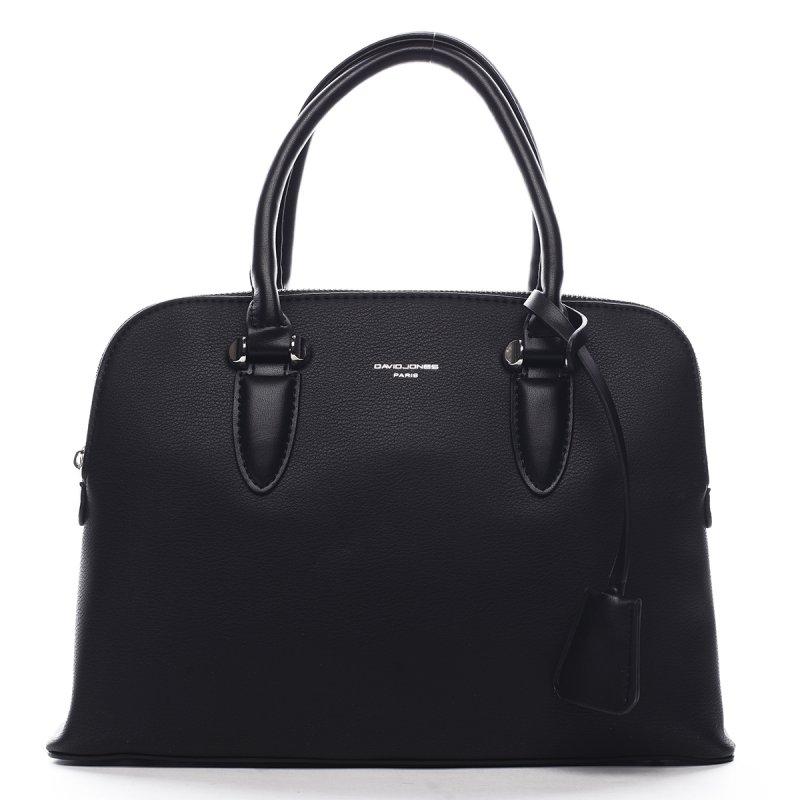 Stylová dámská koženková kabelka v kufříkovém provedení Agnes černá