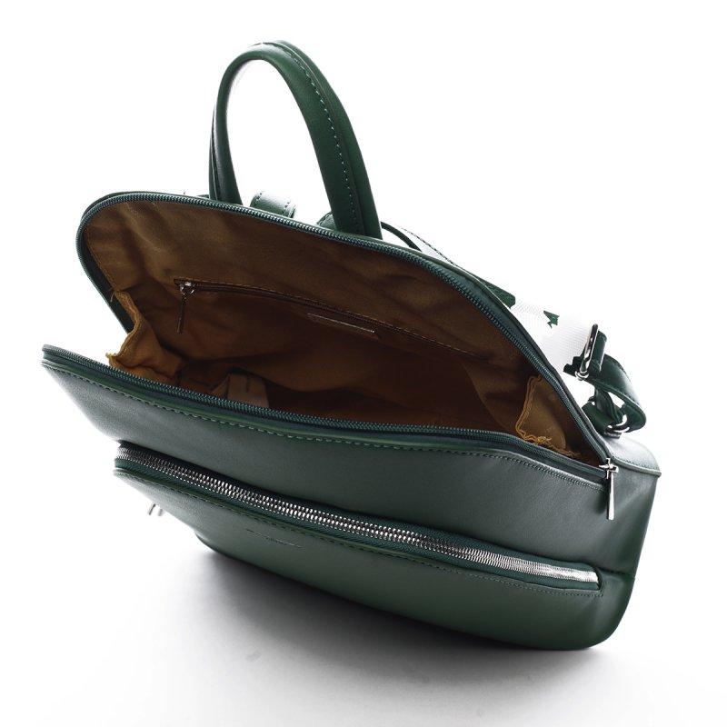 Stylový městský koženkový batůžek Marcelle zelená