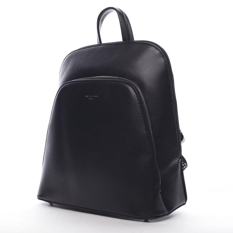 Stylový městský koženkový batůžek Marcelle černá