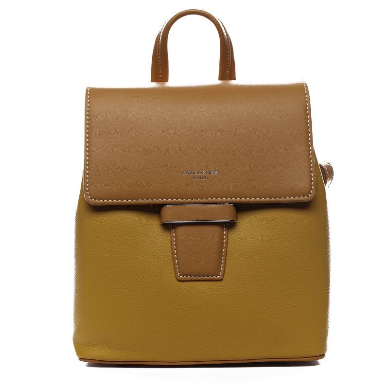 Nepřehlédnutelný elegantní koženkový batůžek Banard žlutá