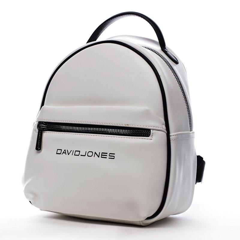 Menší městský koženkový batůžek ve sportovním duchu Marius bílá