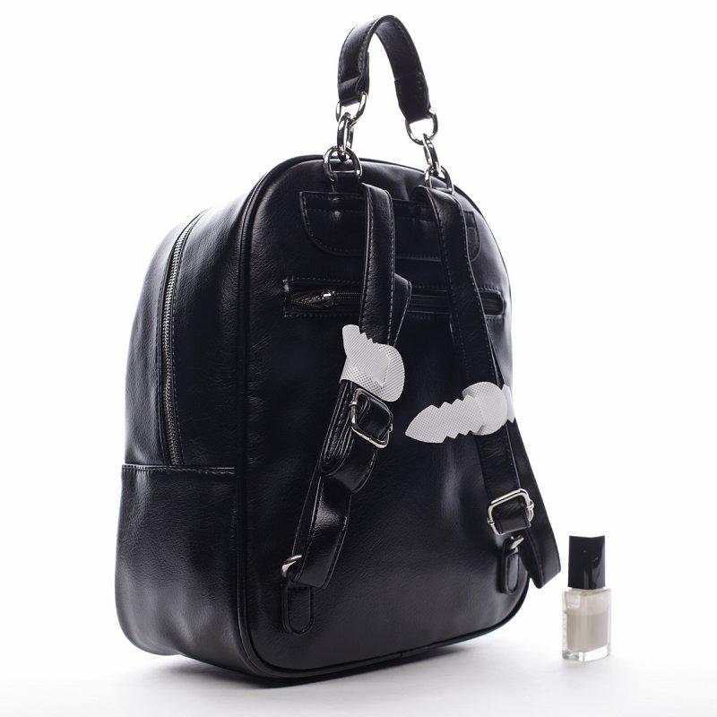 Originální dámský koženkový městský batůžek Marcel černá