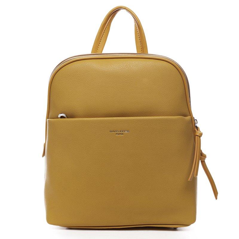 Stylový městský koženkový batůžek Oscar žlutá