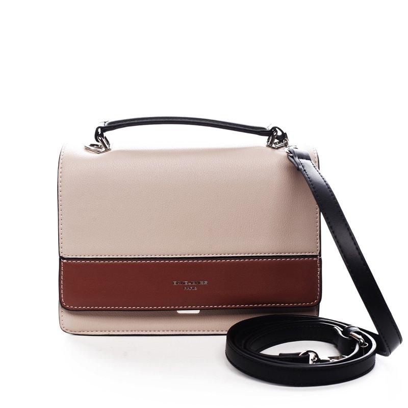 Menší dámská koženková kabelka do ruky Blaise růžová