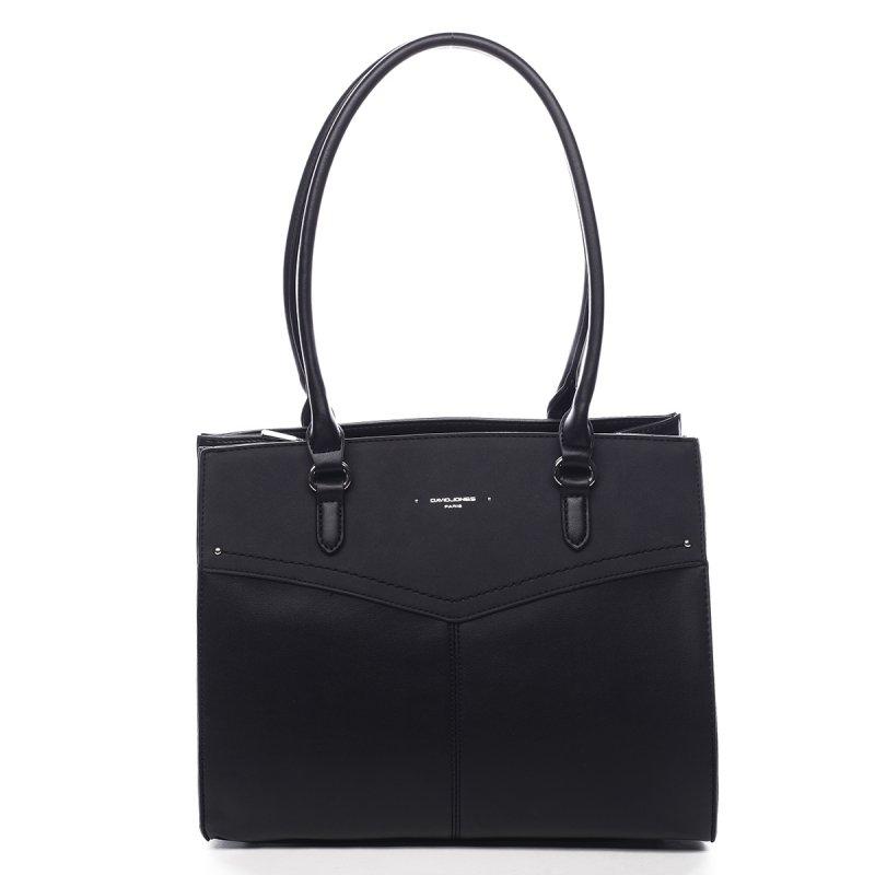 Prostorná dámská koženková kabelka Gaston černá