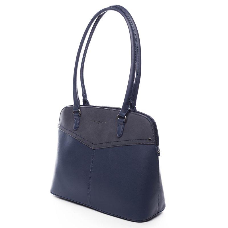 Velká praktická dámská koženková kabelka Beatrice modrá