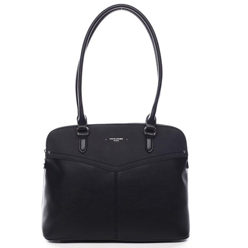 Velká praktická dámská koženková kabelka Beatrice černá