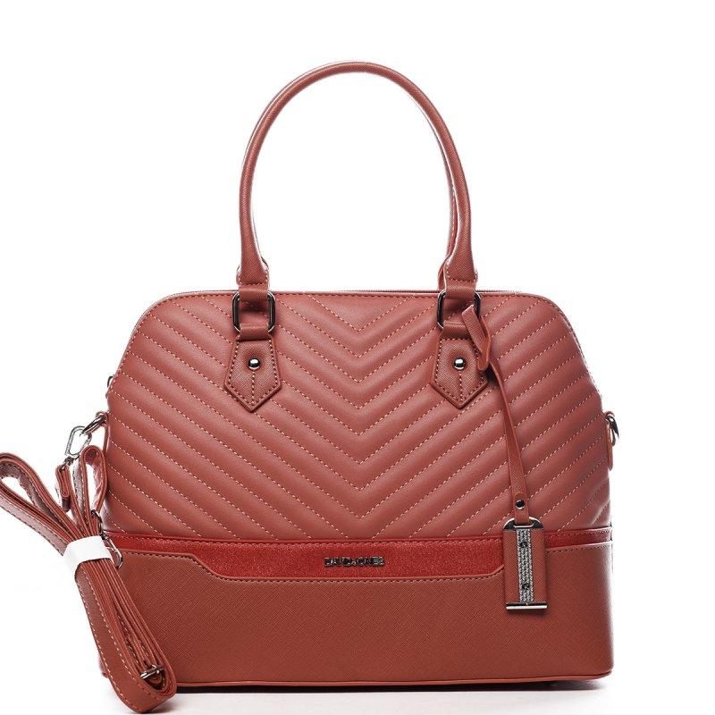 Nepřehlédnutelná dámská kufříková kabelka Claude červená