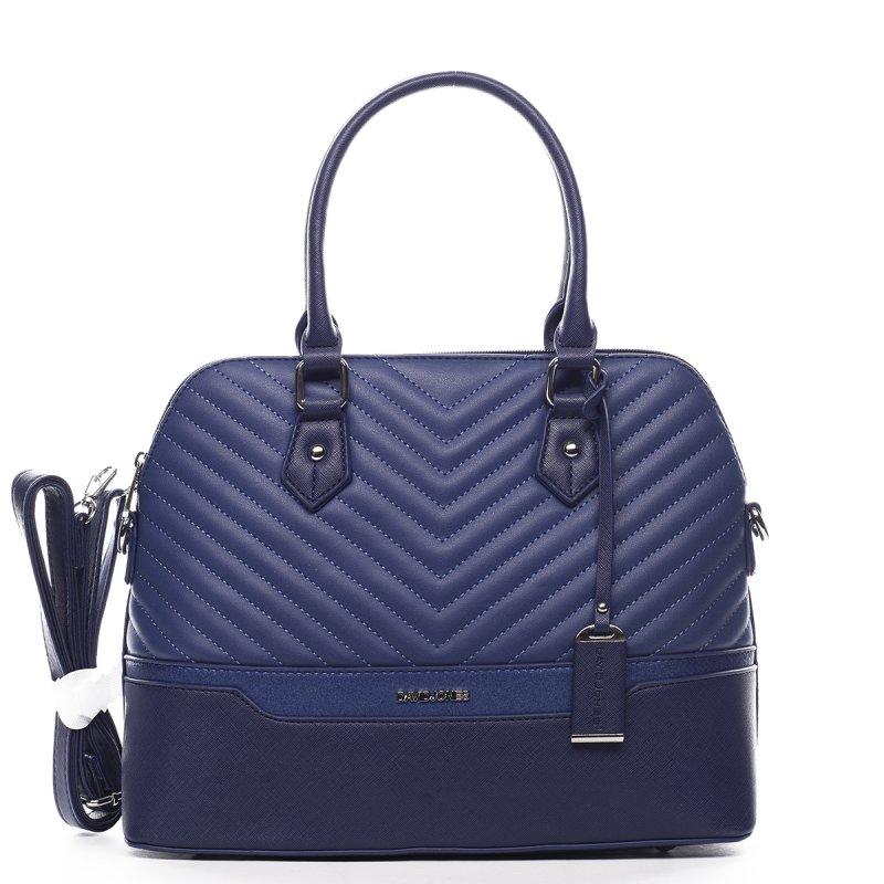 Nepřehlédnutelná dámská kufříková kabelka Claude modrá