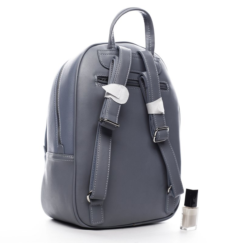 Praktický dámská koženkový batůžek Valentin modrá