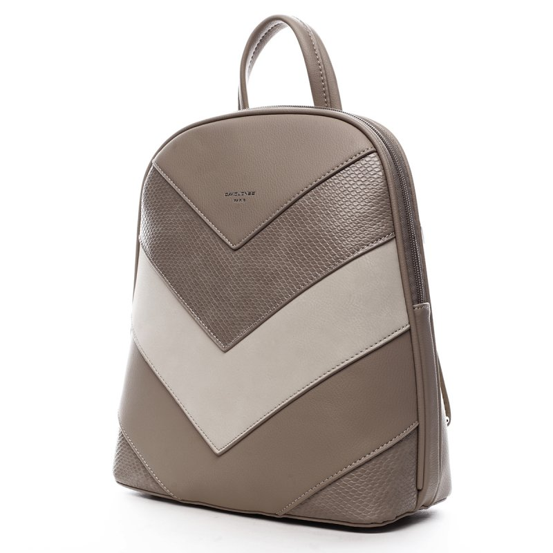 Módní dámský koženkový batoh Félix béžová