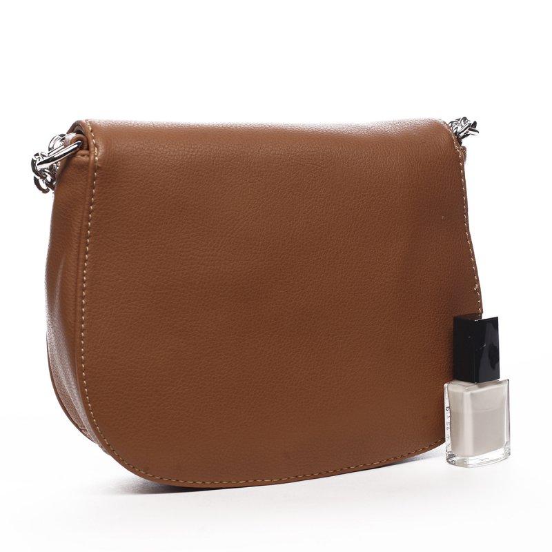 Luxusní kabelka přes rameno Celeste, koňaková