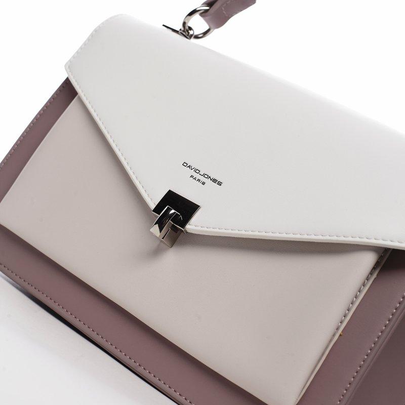 Trendy kabelka s klopou Dora, světle fialová