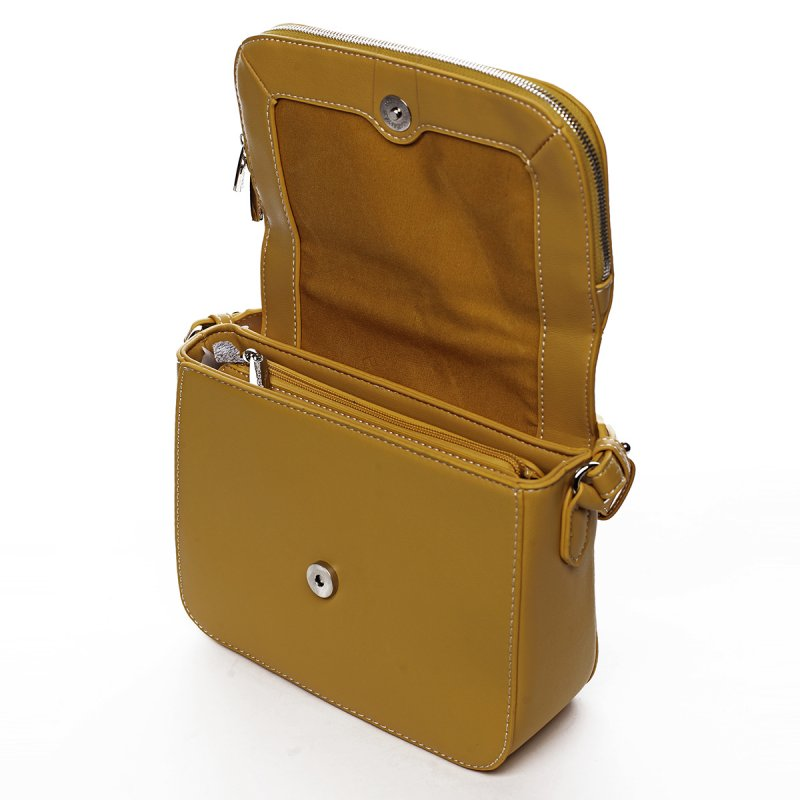 Stylová crossbody kabelka Jade, žlutá