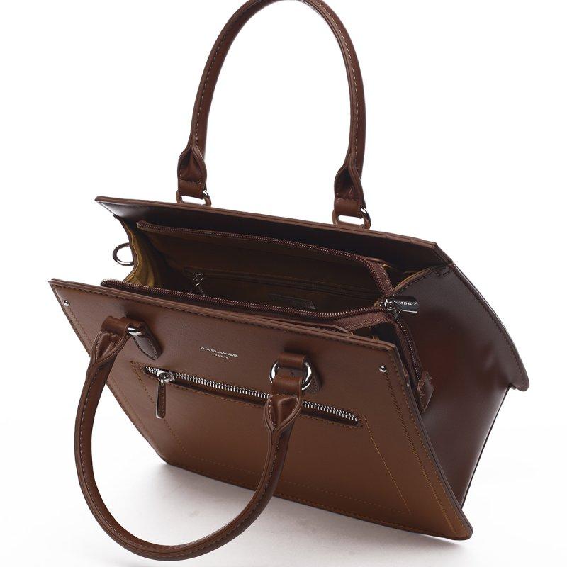 Dámská stylová koženková kabelka Romeo koňaková