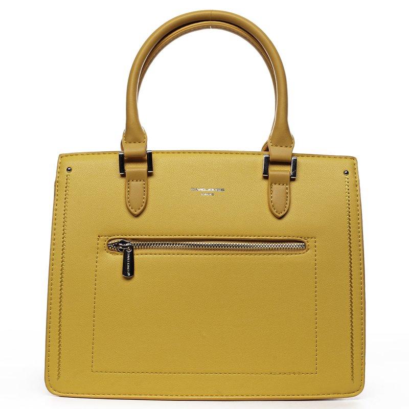 Dámská stylová koženková kabelka Romeo žlutá