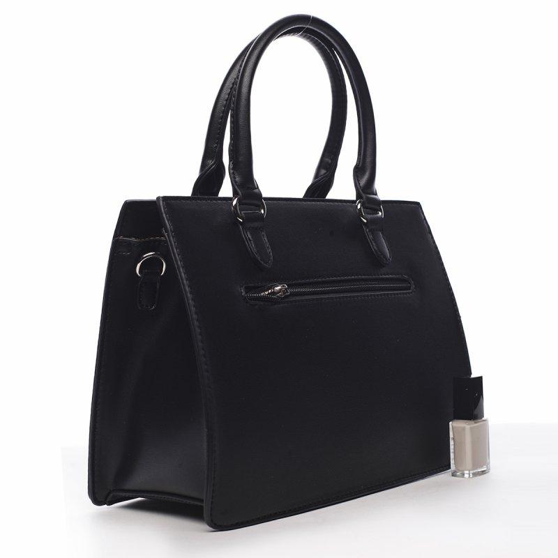 Dámská stylová koženková kabelka Romeo černá