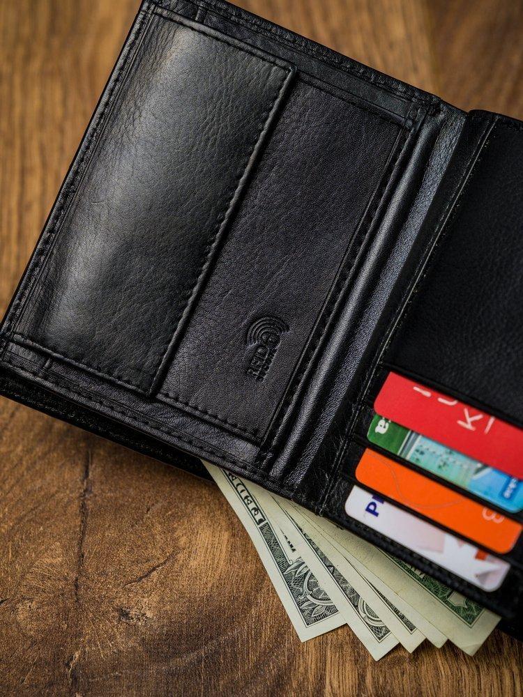 Moderní pánská kožená peněženka Peréz, černá