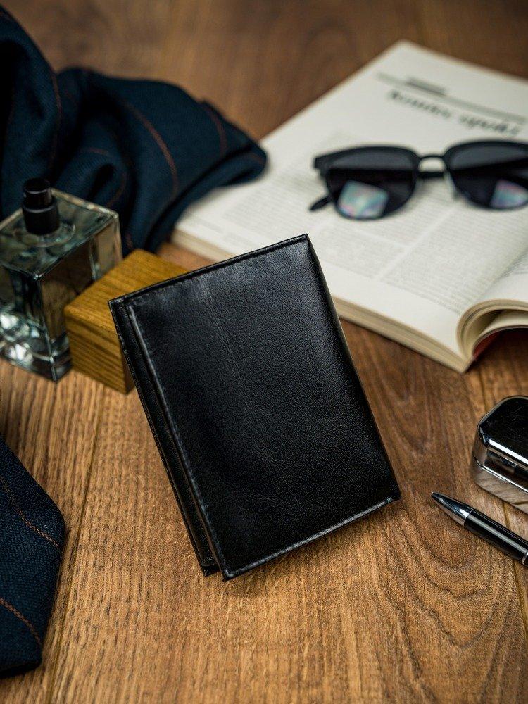 Elegantní kožená pánská peněženka Sanin, černá