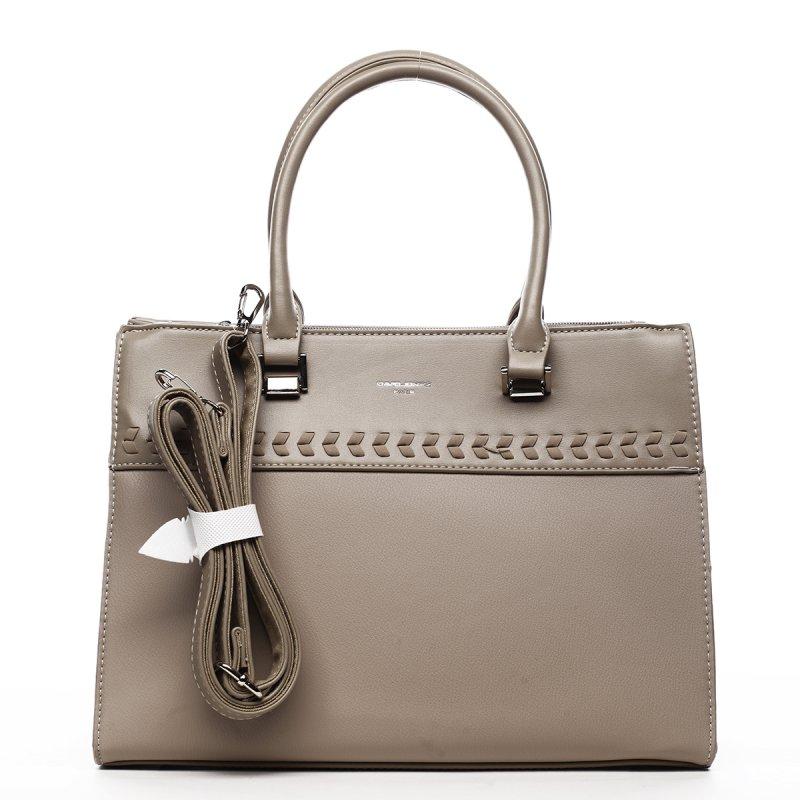 Dámská koženková kabelka s prošíváním Damien béžová