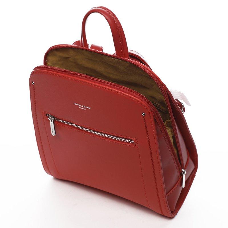 Městský koženkový dámský batoh Aimée červená