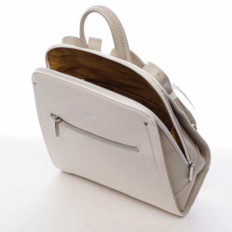 Městský koženkový dámský batoh Aimée bílá