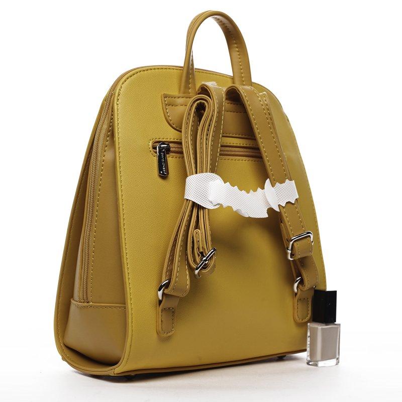 Městský koženkový dámský batoh Aimée žlutá