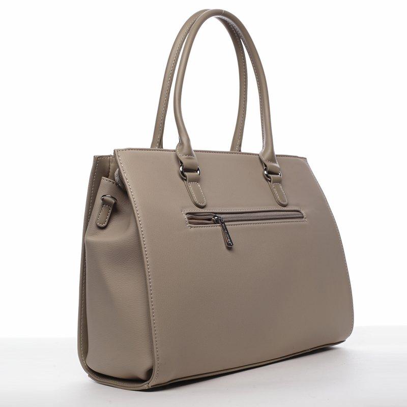 Stylový dámský koženkový kufřík Onésime béžová