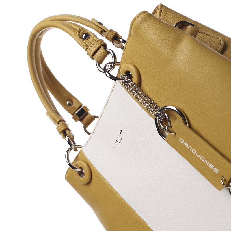 Dámská koženková kabelka ze sportovním nádechem Lucile žlutá