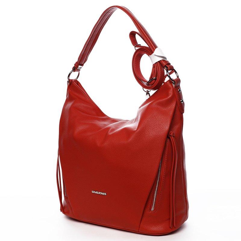 Trendová kabelka přes rameno Mercedes, červená