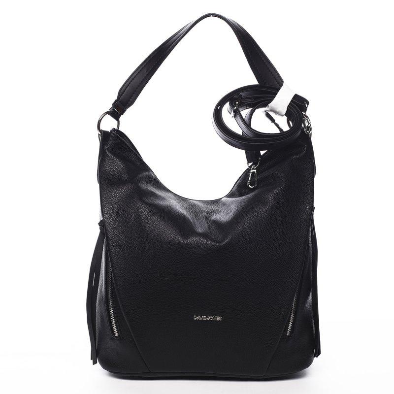 Trendová kabelka přes rameno Mercedes, černá