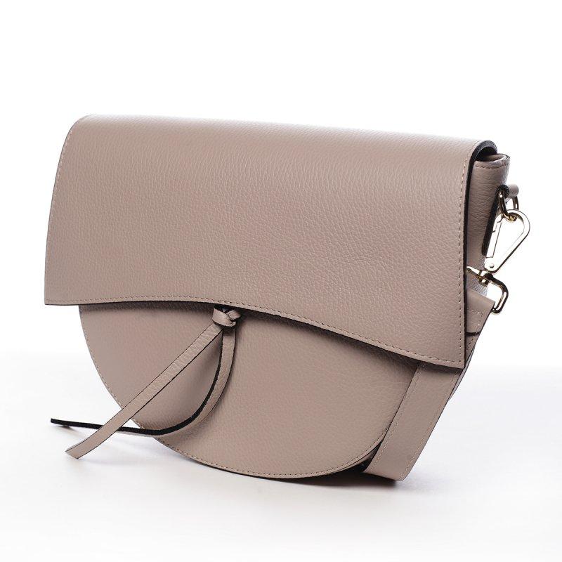 Kožená moderní crossbody kabelka Yara,  růžová