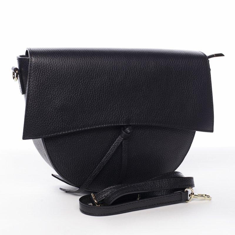 Kožená moderní crossbody kabelka Yara, černá