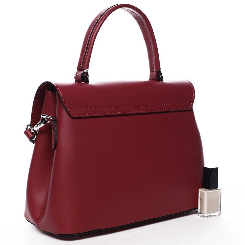 Kožená kabelka do ruky Juana, fuchsiová