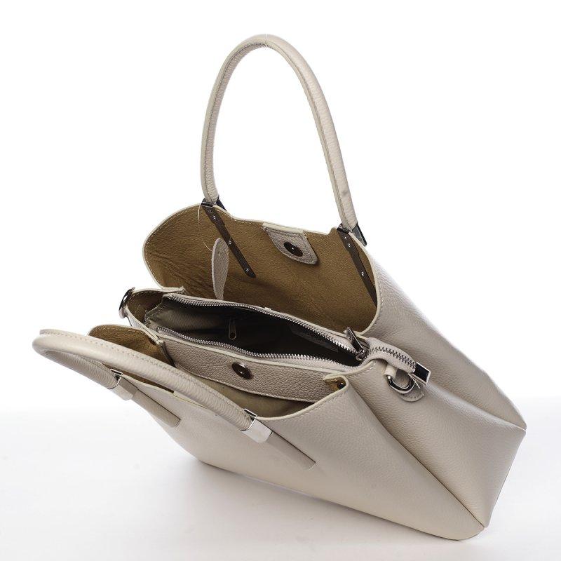 Business kožená kabelka  Encarnición, béžová
