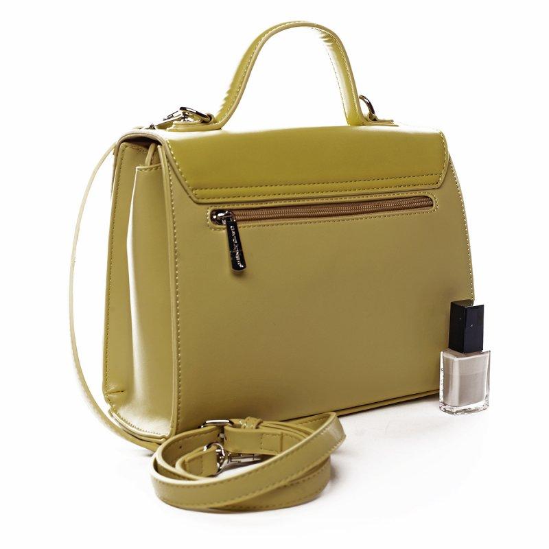 Dámská koženková kabelka do ruky Louise žlutá