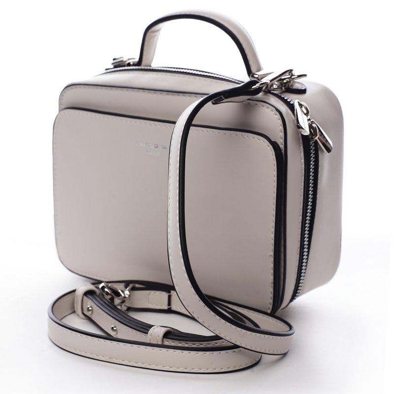 Dámská menší kufříková kabelka do ruky Mathilde béžová