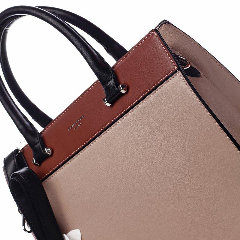 Nepřehlédnutelná dámská kufříková kabelka Rebecca růžová