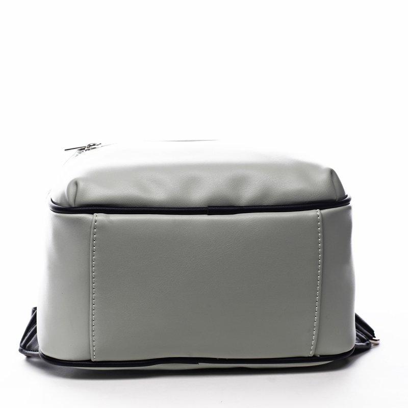 Menší sportovní koženkový batůžek Humbert zelená