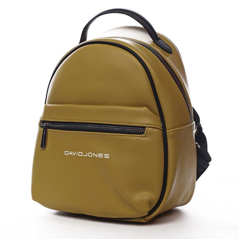 Menší sportovní koženkový batůžek Humbert žlutá