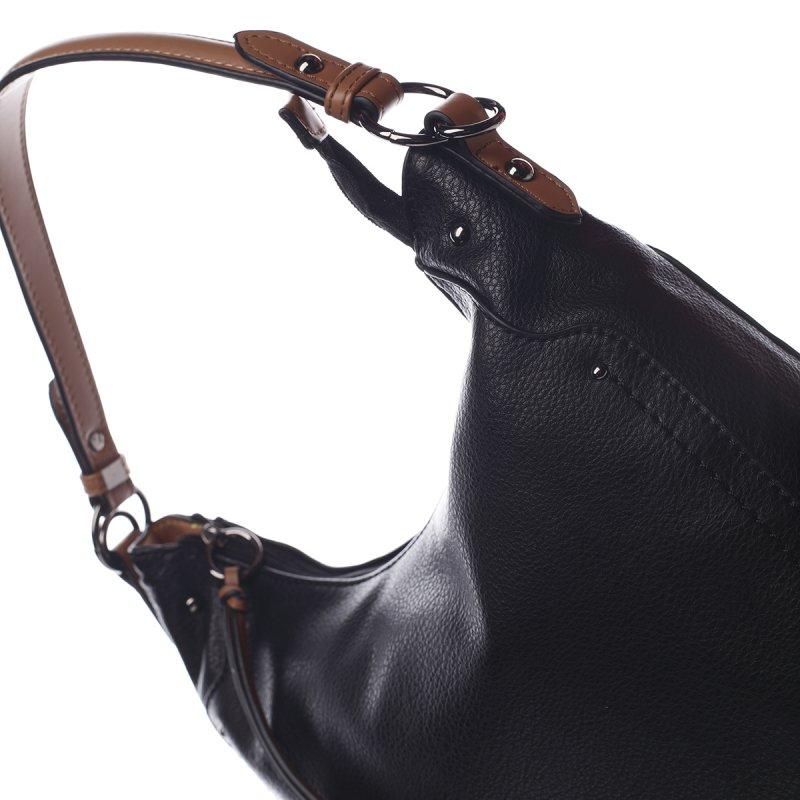Módní dámská koženková kabelka Sandrine černá