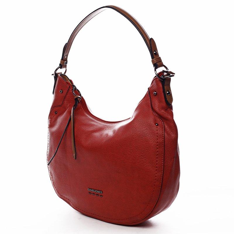 Módní dámská koženková kabelka Sandrine červená