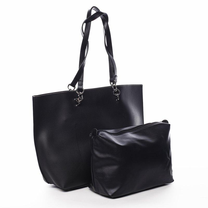 Prostorná stylová dámská kabelka přes rameno Käte, černá
