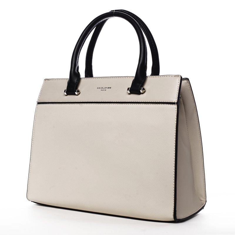 Elegantní dámská pevná kabelka Erika, světle béžová