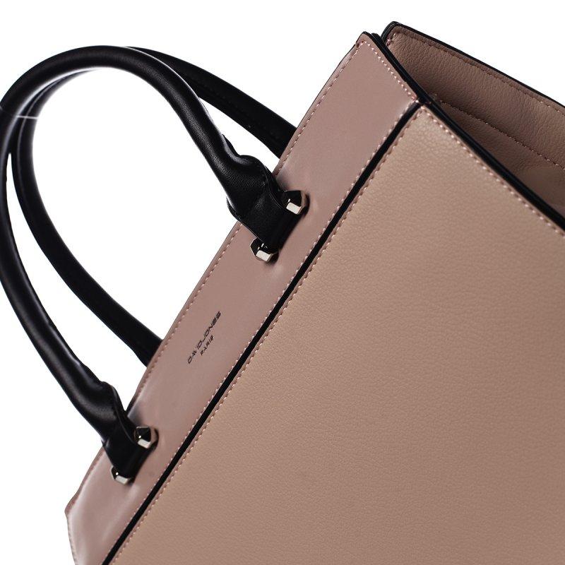 Elegantní dámská pevná kabelka Erika, růžová